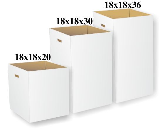 18x18x 20 30 Or 36 White Boxes 521 402 418 Keeptidy